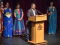 Pankaj Kumar – Trustee of International Hindi Association addressing the Auditorium