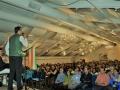 २९ मई २०१७ को न्यूजर्सी में आयोजित २१वें कार्यक्रम में श्री सुदीप भोला काव्य पाठ करते हुए