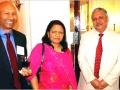 श्री नरेश और श्रीमती आशा चाँद दूतावास मंत्री संजय सिन्हा के साथ १३ अप्रैल २००८ को भारतीय दूतावास, वॉशिंगटन डी.सी. में