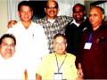 जुलाई २००७ में पूर्व अध्यक्ष श्री सुरेन्द्रनाथ तिवारी, डा० नंदलाल सिंह, श्री शैलेन्द्र गुप्ता, डा० रविप्रकाश सिंह, अध्यक्ष श्री आलोक मिश्रा व सचिव श्री हिमांशु पाठक न्यूयार्क में समिति के संविधान पर चर्चा के दौरान