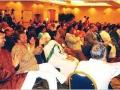 १४वें अधिवेशन में आयोजित हास्य कवि सम्मेलन में आमंत्रित कवि डॉ. सुनील जोगी, डा. सुरेश अवस्थी, और श्री गजेन्द्र सोलंकी की रचनाओं का आनंद लेते श्रोतागण १२ अप्रैल २००८ वॉशिंगटन डी.सी. में