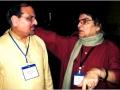 अध्यक्ष श्री आलोक मिश्रा वरिष्ठ कवि डा० कैलाश वाजपेयी के साथ न्यूयार्क में १५ जुलाई २००७
