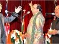 अप्रैल २०१० कवि सम्मेलन में कवि श्री अरुण जैमिनी, श्री महेन्द्र अजनबी, और श्री आशकरण अटल काव्य पाठ करते हुए